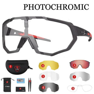 Polarized Photochromic Cycling Glasses Outdoor Sports MTB Bicycle Sunglasses Goggles Mountain Bike Cycling Eyewear-outdoor-betahavit-X-YJ-JPC02-5P-betahavit