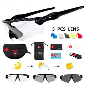 25g Ultralight 5 Lens Polarized Cycling SunGlasses MTB Bicycle Eyewear Cycling Glasses Mountain Racing Bike Goggles 2019-outdoor-betahavit-Photochromic-betahavit