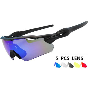 25g Ultralight 5 Lens Polarized Cycling SunGlasses MTB Bicycle Eyewear Cycling Glasses Mountain Racing Bike Goggles 2019-outdoor-betahavit-betahavit