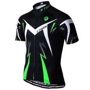 Summer Cycling Jersey Breathale Mountain Bike Clothing Quick-Dry Racing MTB Bicycle Clothes Uniform Cycling Clothing-outdoor-betahavit-Fluo Green-S-betahavit