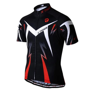 Summer Cycling Jersey Breathale Mountain Bike Clothing Quick-Dry Racing MTB Bicycle Clothes Uniform Cycling Clothing-outdoor-betahavit-Red-L-betahavit
