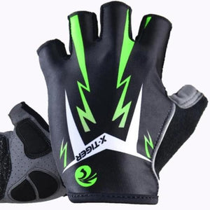 3D GEL Pad Bright Green Sport Gloves With Reflective Half Finger MTB Bike Gloves Cycling Gloves Mountain Bicycle Gloves-outdoor-betahavit-As Picture 175-XL 175-betahavit