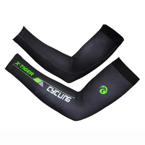 Anti-UV Cycling Armwarmer Summer Breathable Mountain Bike Arm warmer Quick-Dry Racing MTB Bicycle Armwarmer Man Women-outdoor-betahavit-Black Green-XXL-betahavit