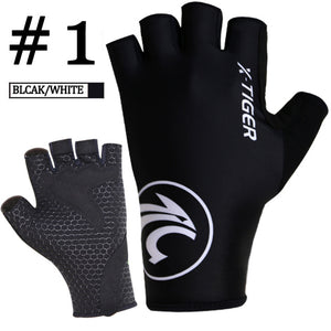 Breaking Wind Cycling Gloves Half Finger Anti-slip Bicycle Mittens Racing Road Bike Glove MTB Biciclet Guantes Ciclismo-outdoor-betahavit-Colors 1-XL-betahavit