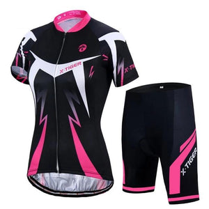 Summer Women MTB Bike Cycling Clothing Breathable Mountian Bicycle Clothes Ropa Ciclismo Quick-Dry Cycling Jersey Sets-outdoor-betahavit-Normal Cycling Set-M-betahavit