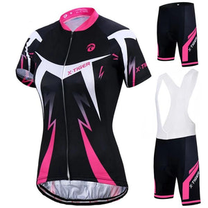 Summer Women MTB Bike Cycling Clothing Breathable Mountian Bicycle Clothes Ropa Ciclismo Quick-Dry Cycling Jersey Sets-outdoor-betahavit-betahavit