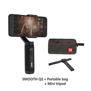 SMOOTH Q2 Phone Gimbal 3-Axis Pocket Size Handheld Stabilizer for iPhone/Samsung/Huawei Smartphones VS Osmo-electronic-betahavit-China-SM Q2-tripod-bag-betahavit