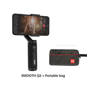 SMOOTH Q2 Phone Gimbals Pocket-Size Smartphones Handheld Stabilizer for iPhone 11/Samsung/Xiaomi/Huawei VS Osmo-electronic-betahavit-China-Smooth Q2-Bag-betahavit