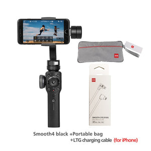 Smooth 4 3-Axis Phone Gimbals Handheld Stabilizers for Smartphones iPhone/Samsung/Huawei/Xiaomi/Action Camera-electronic-betahavit-China-SM4-black-bag-LTG-betahavit