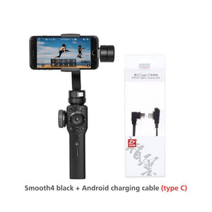 Smooth 4 Phone Gimbal 3-Axis Handheld Stabilizers for Smartphone iPhone/Samsung/Xiaomi/Gopro Hero action camera-electronic-betahavit-China-Smooth4-black-cable-betahavit