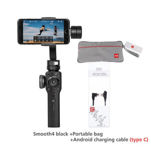 Smooth 4 Phone Gimbals 3-Axis Handheld Stabilizers for Smartphone iPhone/HUAWEI/Samsung/Action Camera Gimbal-electronic-betahavit-China-SM4 black-bag-typeC-betahavit