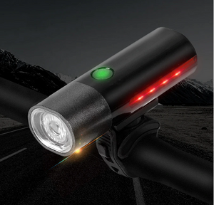 350 Lumen Bike Light Waterproof Safety Flashlight 1600mAh Battery USB Charging Headlight Cycling Bicycle Front Light-outdoor-betahavit-Black-betahavit