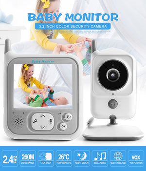 3.2 Inch LCD Video Baby Monitors Wireless Babysitter Two Way Audio Night light Temperature Pet Baby Camera Nanny Music VB607-home-betahavit-betahavit