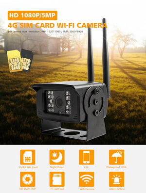 4G SIM Card Mini Camera 1080P 5MP CCTV Security Camera Wireless Night Vision IR 20M TF Card Slot P2P APP CamHi-home-betahavit-betahavit