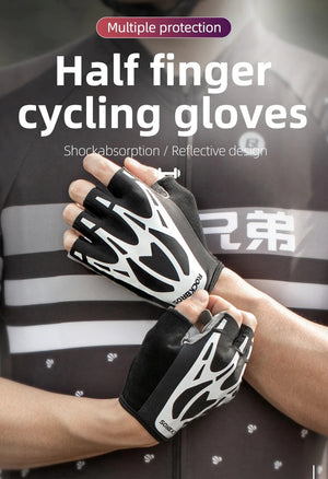 Bicycle Gloves MTB Road Bike Gloves Outdoor Sport Men Women Fitness Summer Autumn Half Finger Reflective Cycling Gloves-outdoor-betahavit-betahavit