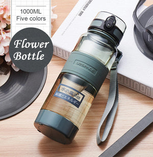 1000ml Water Bottles Portable Leakproof Sports Hiking Tea My Drink Bottle Large Capacity Eco-friendly Kettle With filter-home-betahavit-betahavit
