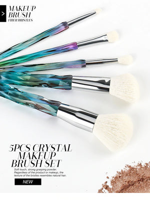 5pcs Diamond Makeup Brushes Set Cosmetics Powder Eye Shadow Foundation Blush Blending Make Up Brush Maquiagem-beauty-betahavit-5 pieces Brush 9987-betahavit