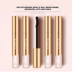 12pcs/set 3D Mascara Lengthening Black Lash Eyelash Extension Eye Lashes Brush Gold Color Mascara Makeup Kit-beauty-betahavit-Macara 12pcs-CHINA-betahavit