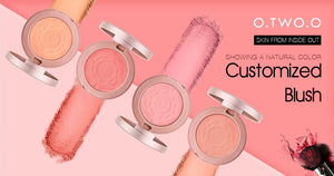 6pcs/lot Shimmer Blush Powder Palette With Brush Red Peach Color Mineral Blusher Makeup Set-beauty-betahavit-6pcs in one set-betahavit