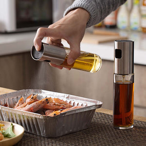 100ML Stainless Steel Oil Dispenser Sprayer Squeeze Bottle Vinegar Oil Bottle Pump Gravy Boats Oil Spray Cruet Kitchen Tool-home-betahavit-betahavit