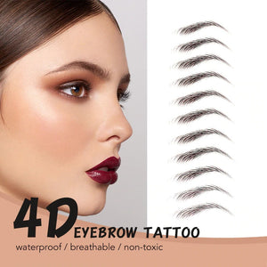 11 pairs 4D Hair Like Authentic Eyebrows 7 Days Long Lasting Waterproof False Eyebrow Sticker Makeup Eyes Tattoo Stickers-beauty-betahavit-betahavit