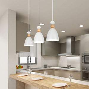 Nordic Pendant Lamp Solid wood postmodern Hanging Lights gourd Pendant Lights Simple restaurant lamp wrought iron macaron Lights-home-betahavit-betahavit