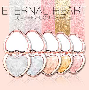 5pcs Shimmer Highlighter Powder Makeup Set Heart Shape Face Glow Body Glitter Iluminador Palette Cosmetics Kit-beauty-betahavit-5pcs-betahavit