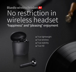 Hi wireless tws earbuds bluetooth earphone stereo sport earbuds wireless headset with charging box built-in microphone-electronic-betahavit-Black-betahavit