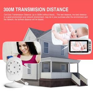 4.3 Inch LCD Video Baby Monitor 2.4G Wireless Two Way Audio Talk Night Vision Security Camera Alarm Zoom Surveillance Babysitter-home-betahavit-China-betahavit