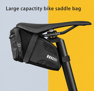 1.5L Bike Bag Large Capcaity Reflective Rear Saddle Bag Can Hang Taillight Durable Storage MTB Bag Bike Accessories-outdoor-betahavit-C29-BK-China-betahavit
