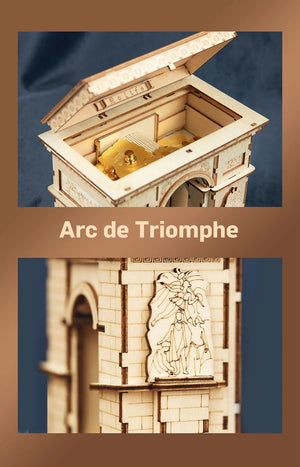 118pcs DIY 3D Arc de Triomphe Wooden Puzzle Game Popular Toy Gift for Children Teen Adult TG502-toys-betahavit-China-betahavit