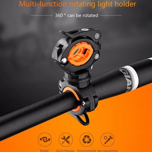 Cycling Bike Bicycle Rotating Light Double Holder LED Front Flashlight Lamp Pump Handlebar Holder Bicycle Accessories-outdoor-betahavit-betahavit