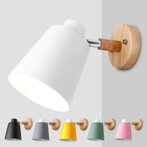 Wall Lamps With Switch Bedside Wall Light Modern Wall Sconce Nordic For Bedroom Macaroon 6 Color Steering Head E27 85-285V-home-betahavit-betahavit