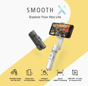 SMOOTH X Smartphones Gimbal Phone Handheld Stabilizer Selfie Stick for iPhone Samsung Huawei Xiaomi Redmi-electronic-betahavit-betahavit