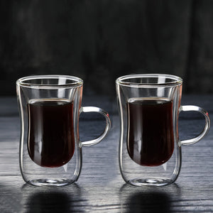 1/2/4/6/8PCS 80ml Double-layer Glass Coffee Cup European-style Coffee Mug with Handle Espresso Coffee Cups Cafe Glass 35-home-betahavit-betahavit