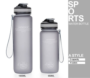 0%BPA Plastic Sports Water Bottle Protein Shaker Portable Tour Outdoor Camp Tea Fruit My Drink Bottle 500/650/1000ml-home-betahavit-betahavit