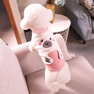 Autumn/Winter Pet Dog Warm Clothes Cat Cute Bear Costume Two Feet Soft Coat-home-betahavit-betahavit