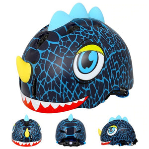 Bicycle Helmet Children Cycling Helmet Suit for 3-8 Years Kids Dinosaur Cartoon Bicycle Riding Bikes Helmet Ciclismo-outdoor-betahavit-Blue-betahavit