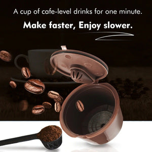 Refillable For Dolce Gusto Coffee Capsule for Dolci Nescafe Machine Reusable Dulce Gusto Coffee Filter-home-betahavit-betahavit