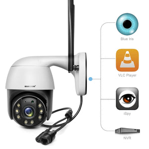 1080P Security Camera Outdoor, AI Auto Tracking,2.4g WiFi Home Surveillance Camera,2 Way Audio, full color 150ft IR Night Vision-home-betahavit-betahavit