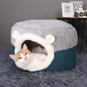 Cat Bed House Soft Plush Kennel Puppy Cushion Small Dogs Cats Nest Winter Warm Sleeping Pet Dog Bed Pet Mat Supplies-home-betahavit-betahavit