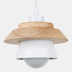 pendant light led pendant fixture hanging kitchen lamp dining room pendant lamp E27 dinning room lights wood pendant lamp modern-home-betahavit-White No Bulb-betahavit