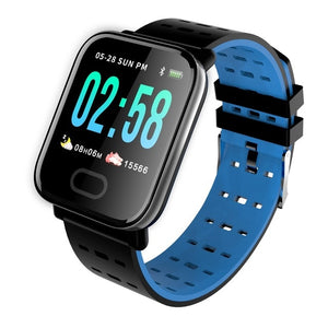 Android waterproof blood pressure Heart Rate Tracker sport Digital A6 smartwatch for ip67-outdoor-betahavit-Blue-betahavit