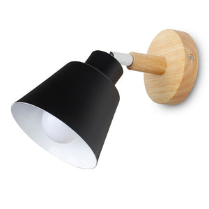 wooden wall lights bedside wall lamp bedroom wall light sconce for kitchen restaurant modern wall lamp Nordic macaroon sconces-home-betahavit-Black No Bulb-betahavit