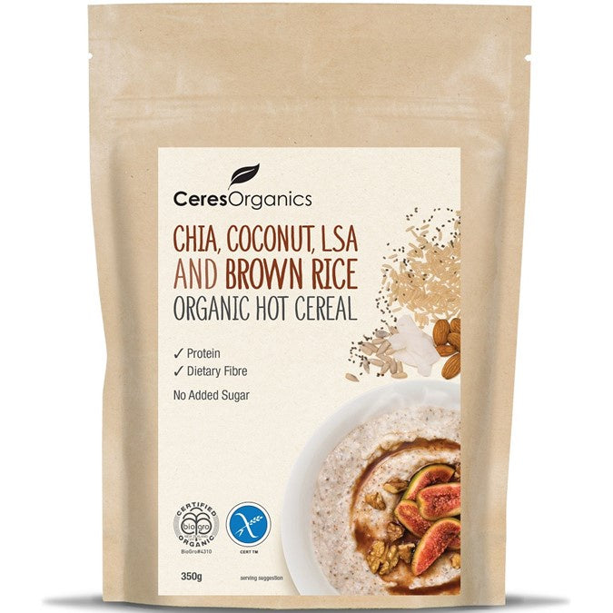 Ceres Organics Hot Cereal - Chia, Coconut, LSA & Brown Rice 350g