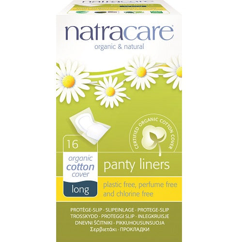 Natracare Cotton Panty Liners Long 16s