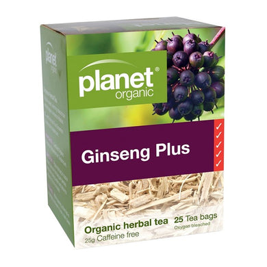 Planet Organic Ginseng Plus Tea- 25 bag