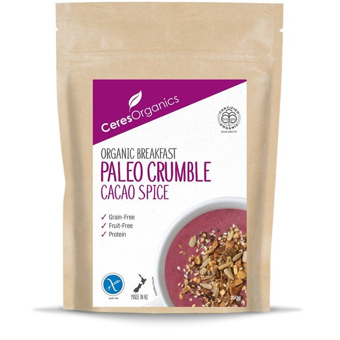 Ceres Paleo Crumble Cacao Spice Organic Breakfast 350g