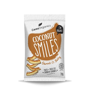 Ceres Organics Coconut Smiles, Sweet & Salty 70g