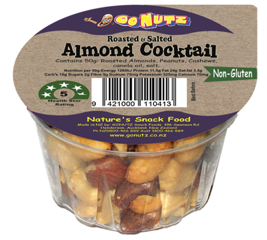 Go Nutz Almond Cocktail Nuts 50g